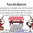 Target adjectives in multiple ways with this packet that includes 60 spot the adjective sentence cards, 10 adjective category picnic table mats for sorting, and 36 name an item with an adjective cards.