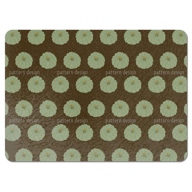 Uneekee Decorative Gourd Brown Placemats (Set of 4) (Decorative Gourd Brown Placemat) (Polyester)