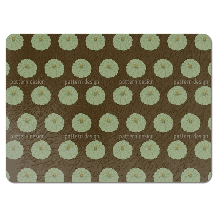 Uneekee Decorative Gourd Brown Placemats (Set of 4) (Decorative Gourd Brown Placemat) (Polyester)
