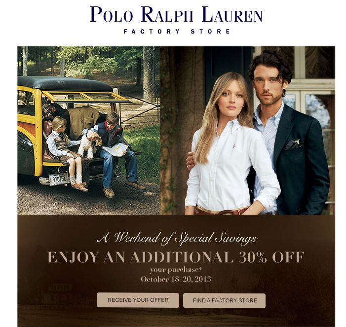 Polo ralph lauren coupons in store
