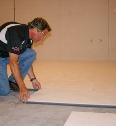 ThermalDry® basement floor decking installation