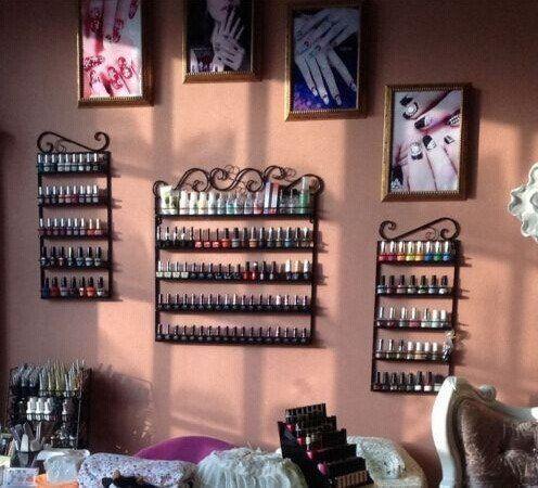 3 in 1, si trasforma in salone di parrucchiera, montaggio a parete, in metallo, smalto per Display e oli essenziali, può contenere più di 200 bottiglie, colore: bronzo