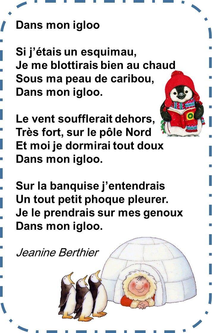 Chansons Et Poesies Voyage Au Pôle Nord Comptine Hiver