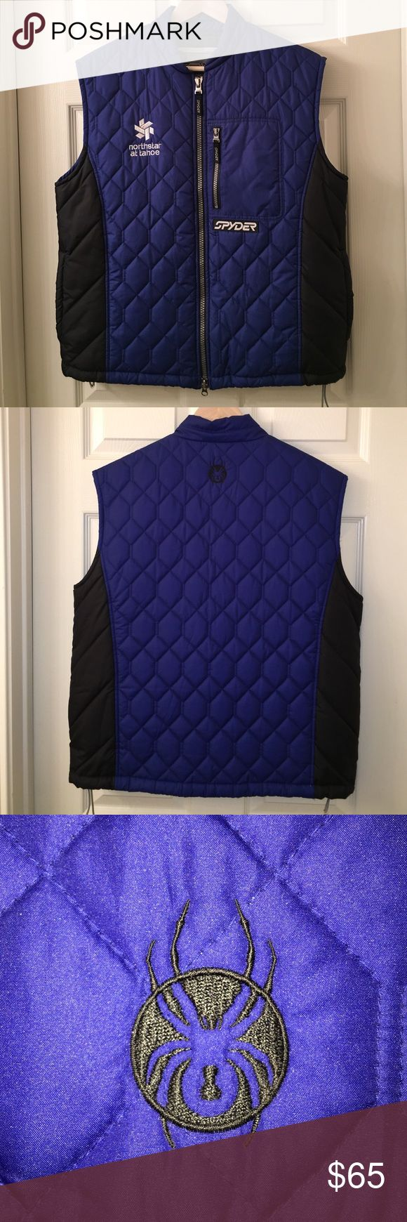 SPYDER Zipper Quilted Tahoe Ski Resort Vest sz M High quality SPYDER vest with lots of zippers💕❤️💕purchased at a ski resort💕❤️💕sz M 💕❤️💕very good used condition💕❤️💕happy poshing💕❤️💕 Spyder Jackets & Coats Vests