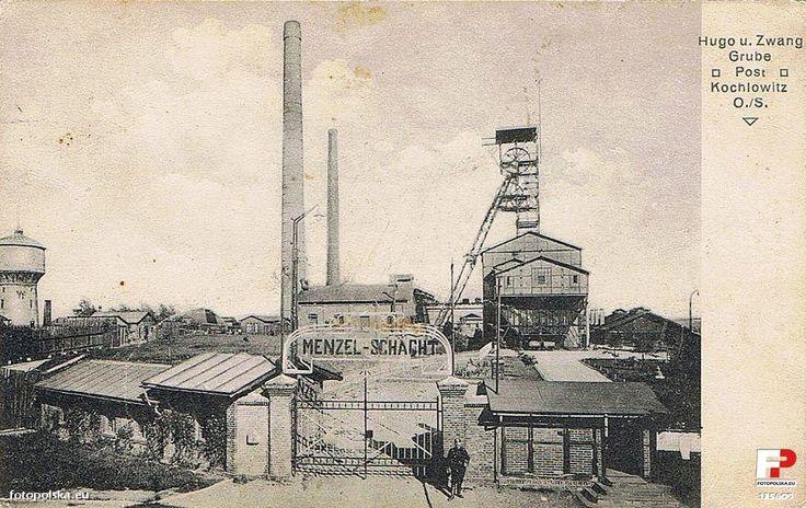 """Kopalnia Węgla Kamiennego """"Halemba - Wirek"""" Ruch """"Wirek"""" (Hugo-Zwang"""", Wirek, Nowy Wirek, Polska -Wirek), Ruda Śląska - 1918 rok, stare zdjęcia"""