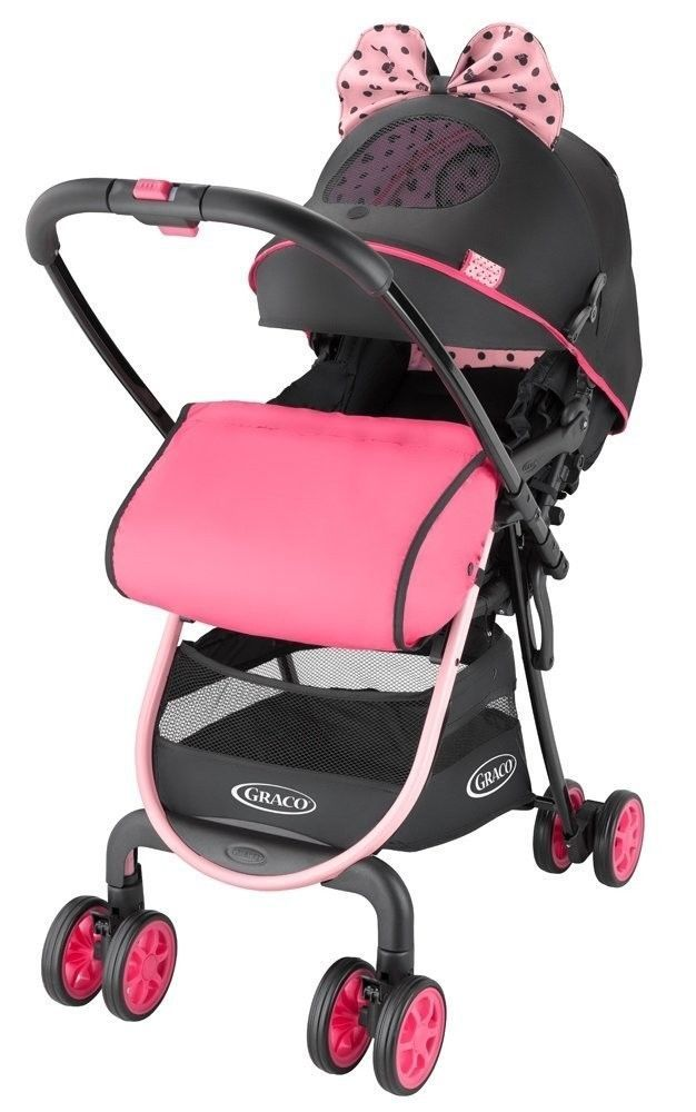 F/S Disney Minnie Mouse Model GRACO CitiLite R UP Baby Stroller Buggy Push Chair #GRACO