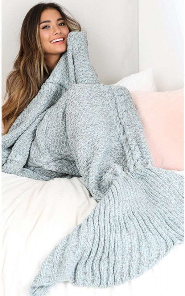 Mermaid blanket in blue marle | SHOWPO Fashion Online Shopping
