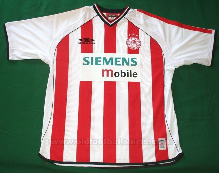 2001/02 Olympiacos FC Umbro Home Jersey (Red & White)