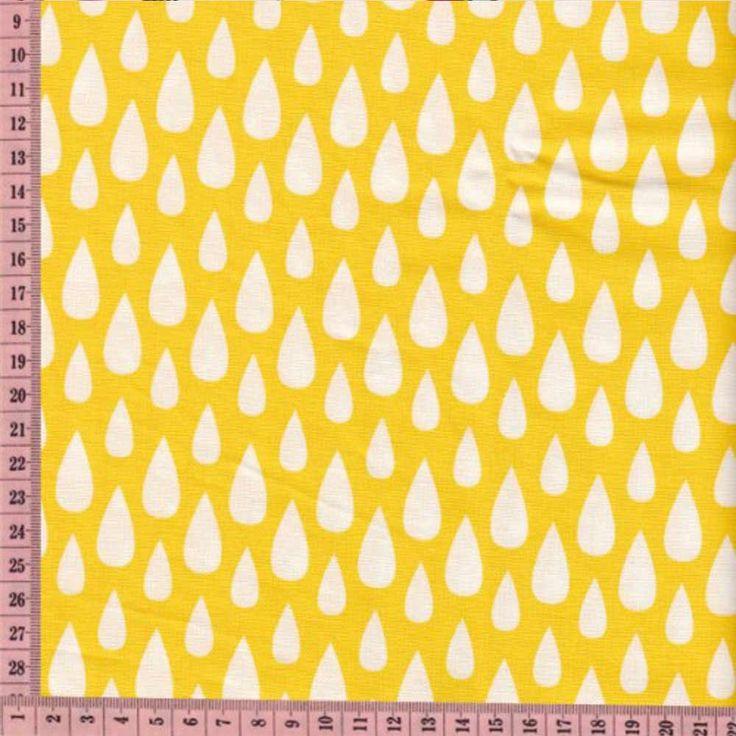 Pour réaliser une petite jupe, un sac assorti ou une jolie trousse, voici un tissu natté Gouttes blanches sur fond bouton d'or !  Certifié Oeko-Tex, et fabriqué en France, il possède une laize de 150 cm.  L'unité de commande étant de 10 cm, pensez à faire la conversion.  Ex : pour 10 cm saisissez1 dans la case quantité, pour 1,30 mètre saisissez 13.Min. de commande :10 cm. 2,30 € http://www.lafolleadresse.com/mercerie/2246-natte-de-coton-gouttes-blanches-sur-fond-bouton-d-or.html
