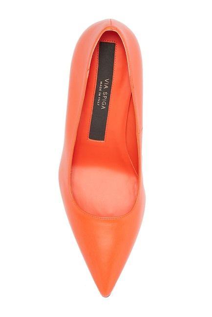 186412e65e9c Via Spiga | Nikole Leather Pointed Toe Pump | Bossbabe | Pointed toe ...