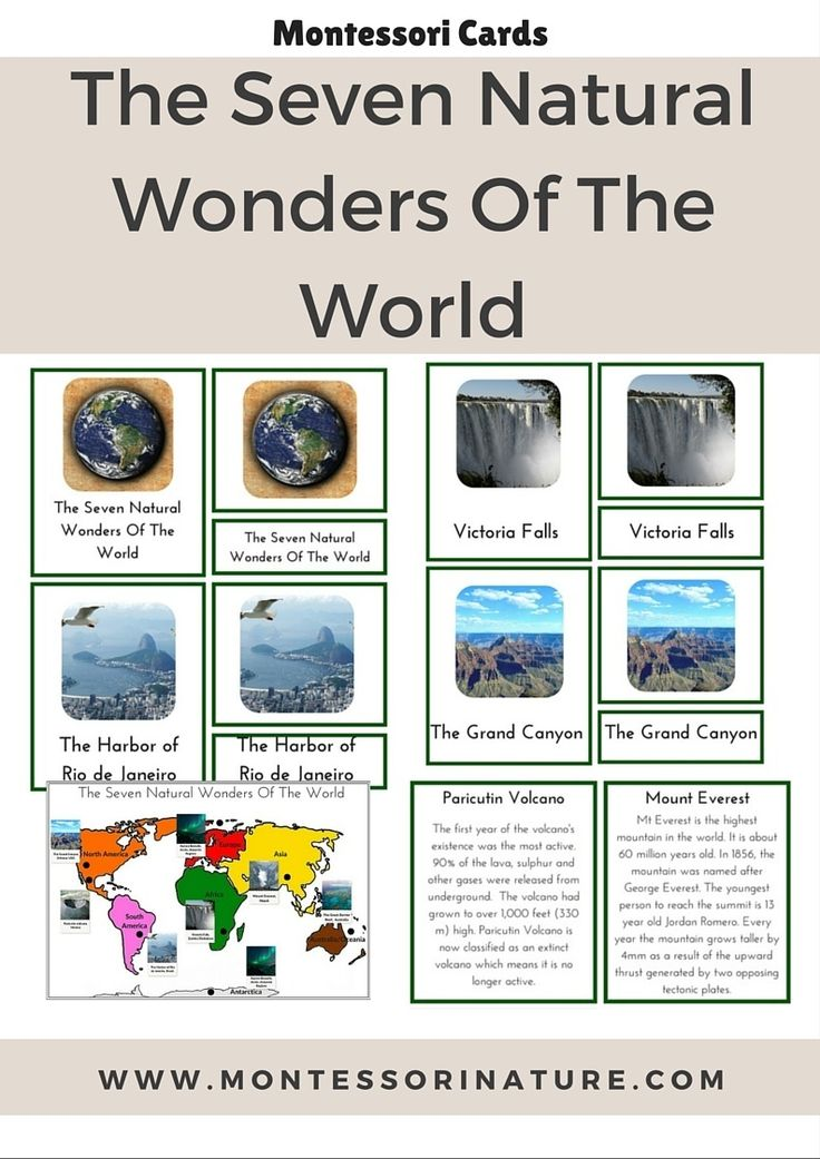 7 natural wonders of the world The seven natural wonders of the world are a list of the world's most astonishing natural attractions.