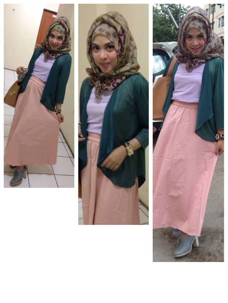 Padu padan baju lama hijab fashion