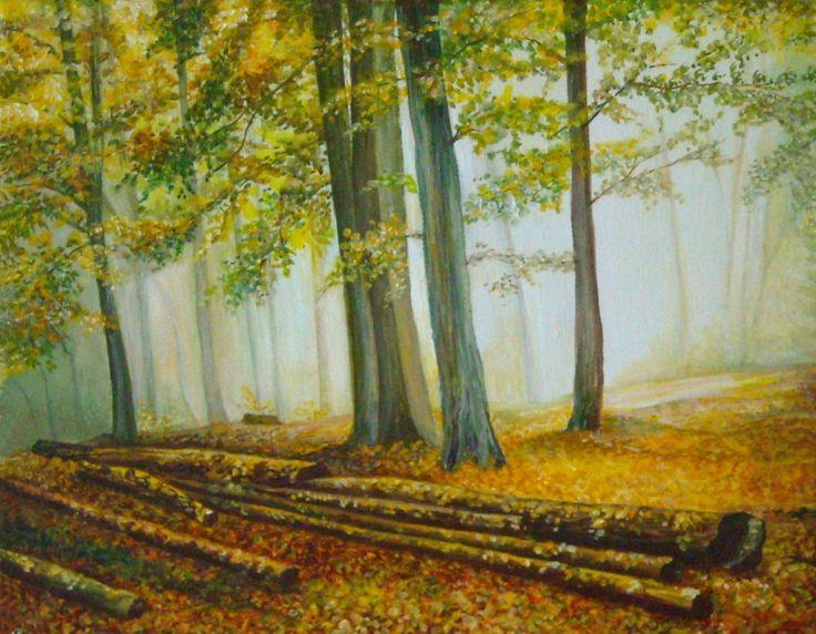 KLÁDY - plátno / blindrám 30 x 24 cm - akryl / olej.