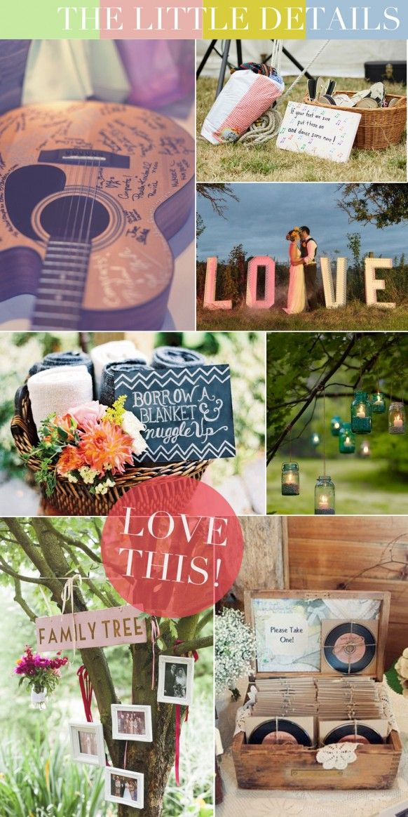 The little details for a Festival themed Wedding | Outdoor Wedding Inspiration