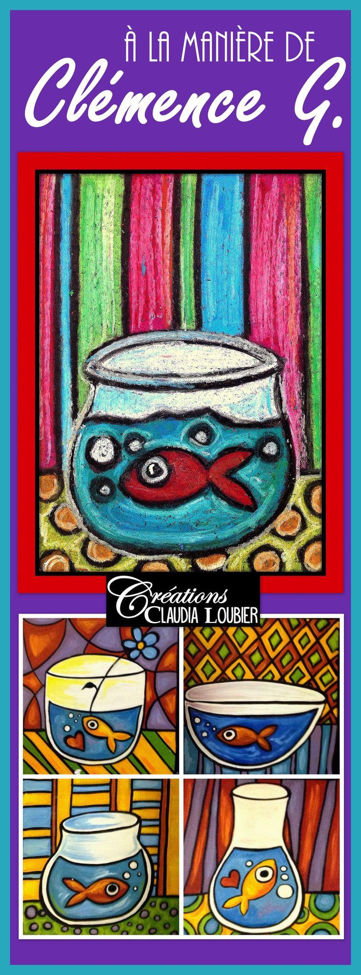 Dans ce projet d'arts plastiques, nous travaillerons avec les pastels à l'huile, pour créer une oeuvre en lien avec le poisson d'avril. Vous aurez aussi besoin de carton construction (noir si possible) et de crayon de cire noir. Très simple, mais magnifique ! Pour tous les niveaux ! Travailler à la manière d'une artiste incroyable: Clémence G. Démarche, photos et grille d'évaluation comprises. Une courte biographie et une oeuvre de Clémence G. incluses dans ce document.