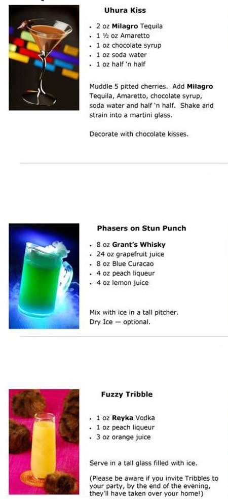 Beam Me Up Scotchie: 10 Star Trek-Themed Cocktails to Get your Party Started