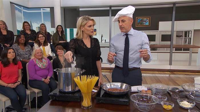 Spaghetti Carbonara Matt Lauer on Megyn Kelly TODAY, November 2nd 2017
