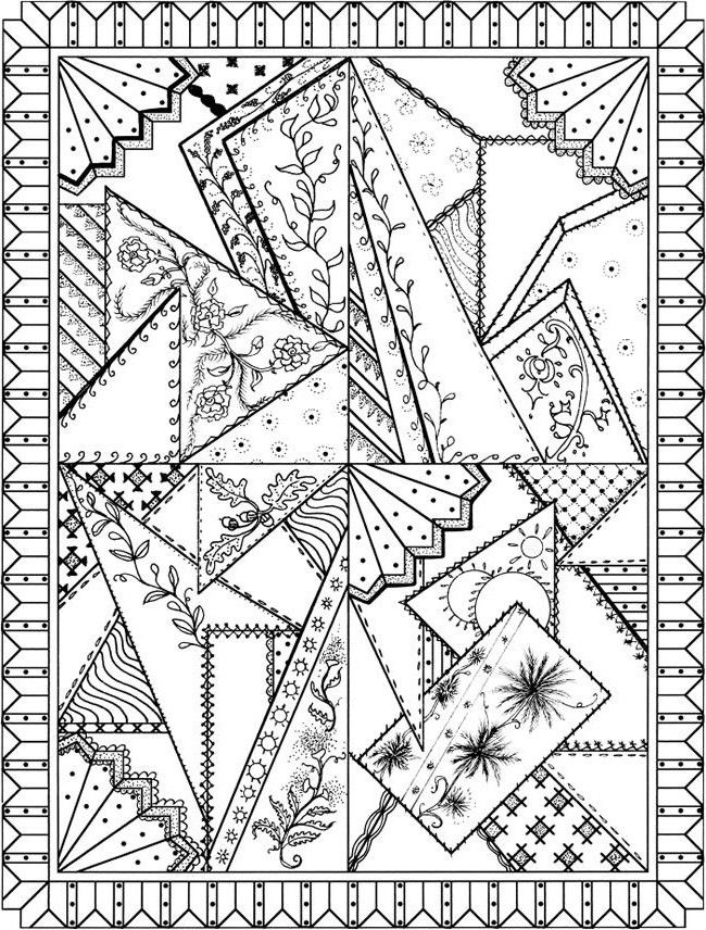 Crazy Quilt Designs Coloring Books Coloring Pages Coloring