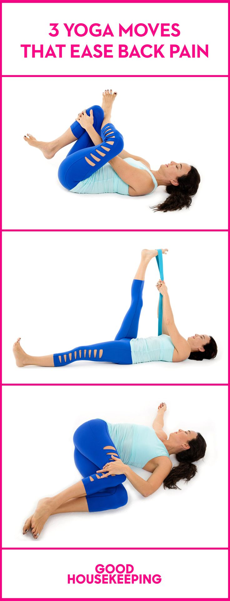 Put down the aspirin and get on the floor with these yoga moves that help an aching back.
