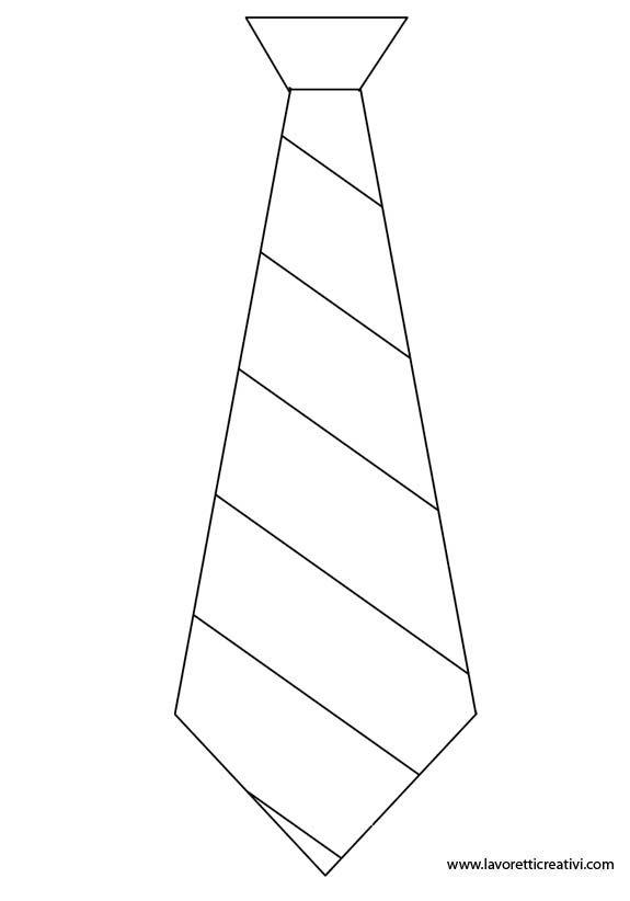 Sagoma di cravatta utile per realizzare un lavoretto di carta, di feltro, di creta o altro materiale per la Festa del papà. Scegliete quella che più gradit