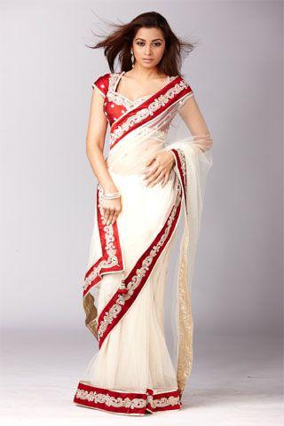 White saree