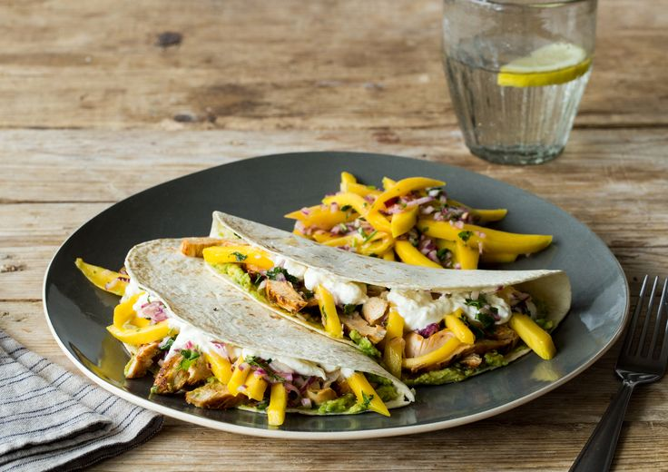 Smoky Adobo Chicken Tacos (chicken breasts, red onion, lime juice ...