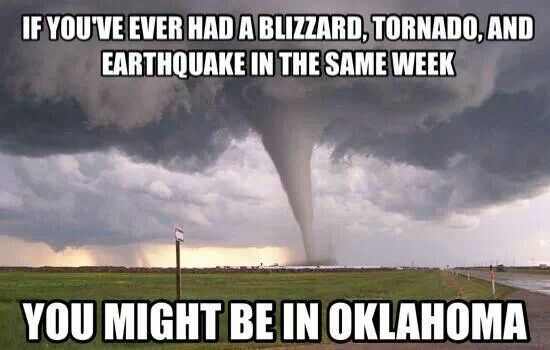 Yup in Oklahoma. One day you're burning up, next day you're shoveling snow.                                                                                                                                                                                 More