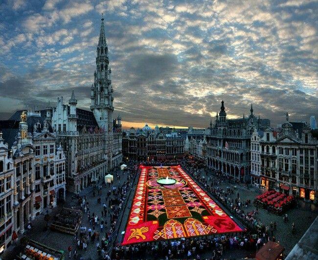 Цветочный ковёр в Брюсселе. Гастон Батистини