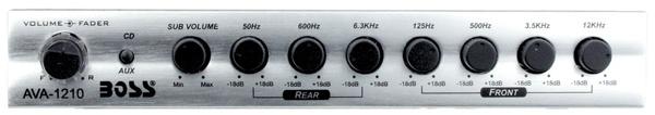AVA1210 7 Band Preamp Equalizer MSRP - $69