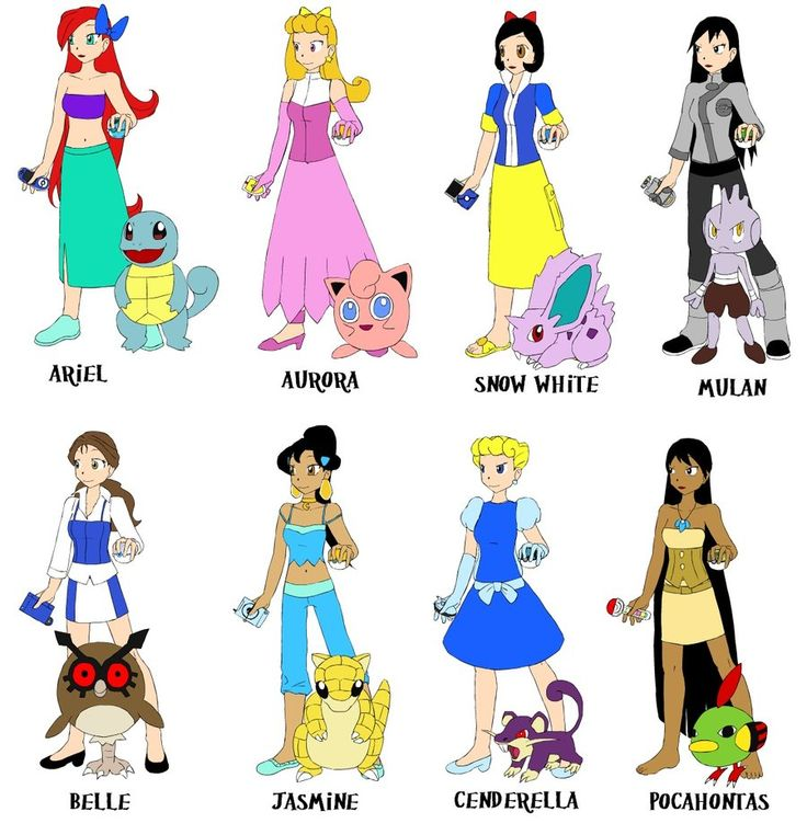 if disney princesses were pokemon trainer by quebecgirl14