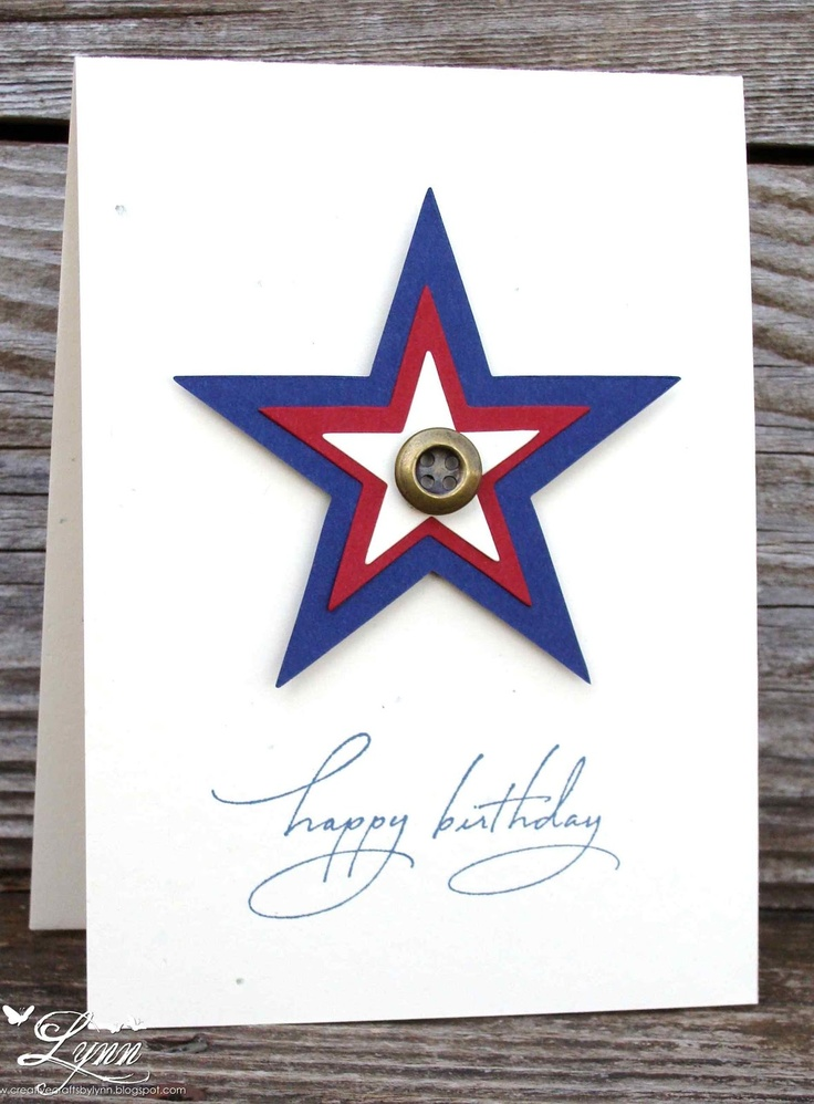 Creative Crafts by Lynn Stampin' Up Star die Stampabilities Sentiment