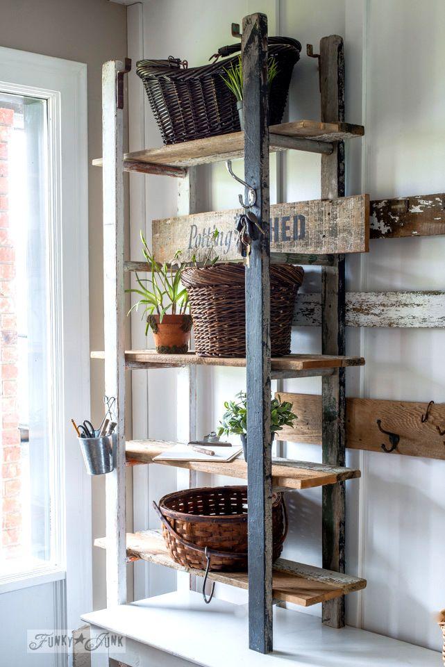 Best 25 ladder shelves ideas on pinterest bathroom for Funky shelving ideas