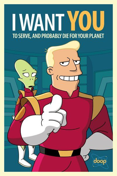 Futurama posters by Barry Doyon.  http://www.flickr.com/people/barrydoyon/