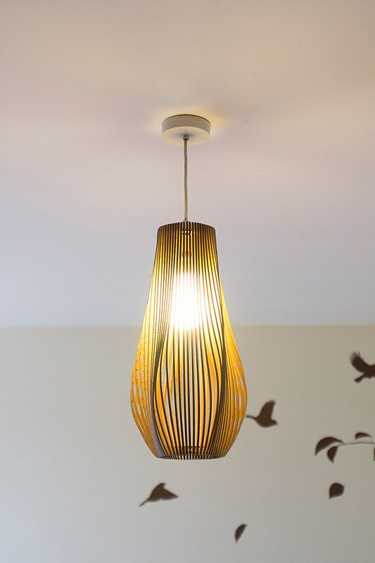 Twisted Lasercut Wooden Lampshade No.3. Wooden LampshadeLampshadesUnique  LightingLighting ...