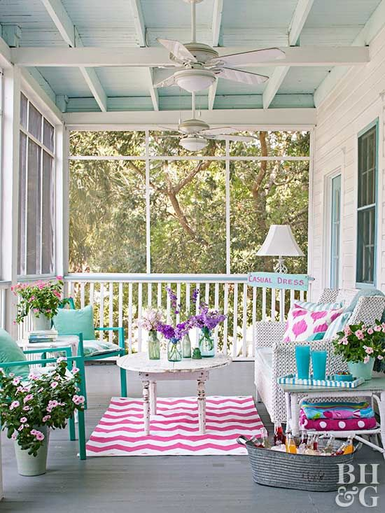 Looking for porch paint ideas? Try a pretty mix of pastels. A gray painted - Best 20+ Porch Paint Ideas On Pinterest Siding Colors, Painted