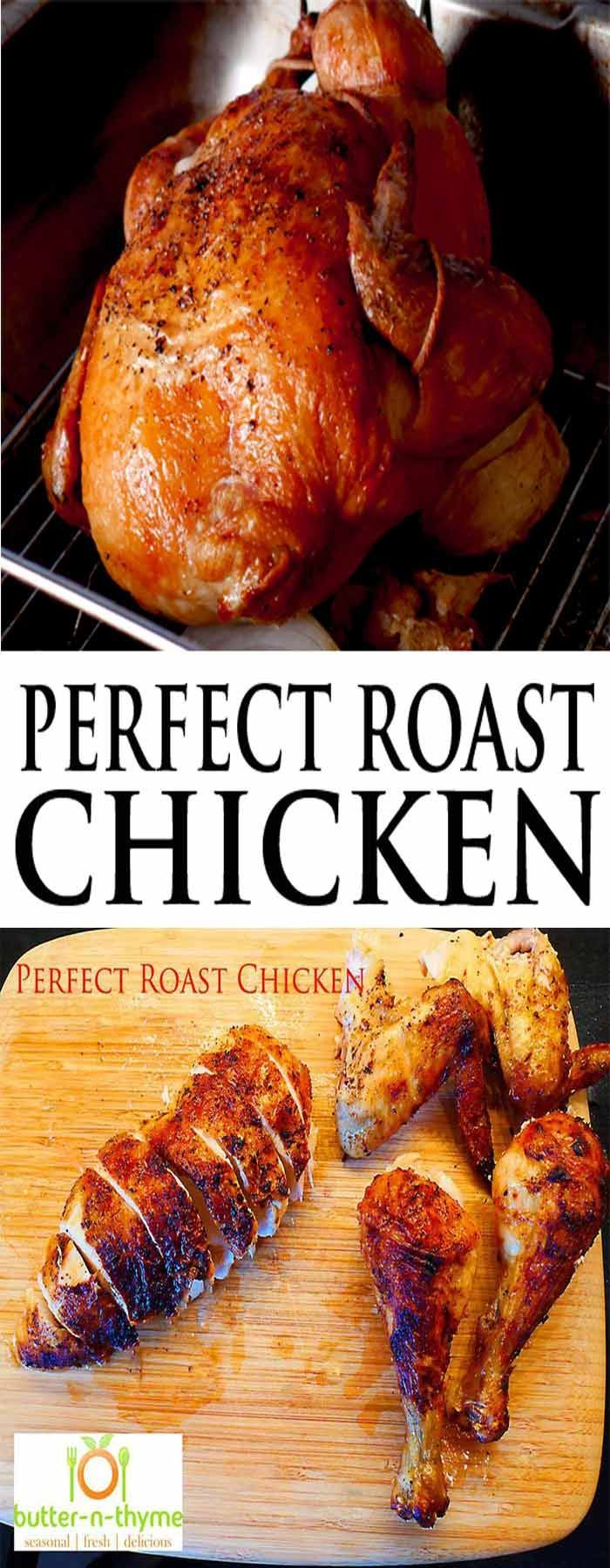 Welcome to the Perfect Roast Chicken. Achieving the perfect roast chicken has been a challenge since the chicken first crossed the road. Let's put this culinary conundrum to rest once and for all. https://www.butter-n-thyme.com #roastchicken #chicken #holiday
