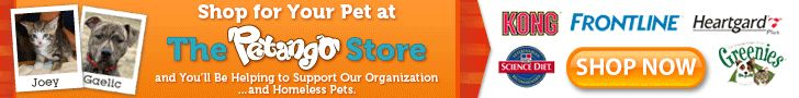 How Petango's 'Shelter Donation Program' works:  When you shop at The Petango Store, you're saving on high-quality, low cost pet meds and supplies.  And every time you make a purchase, a portion of the total amount will be donated to the local animal organization of your choice. $1 for every medication item and 10% of every supply item will be donated.      Please mark Almost Home Foundation (Elk Grove Village, IL) as your 'shelter donation' when you shop!