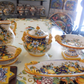 Italian pottery from Amalfi