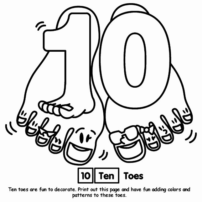 Number 10 Coloring Page Fresh 10 Toes Coloring Page School Free Coloring Pages Coloring Pages Numbers For Kids