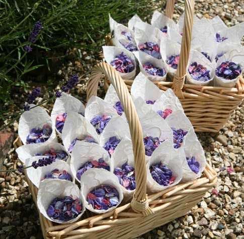 Real Flower Petal Confetti - basket £50.50 each