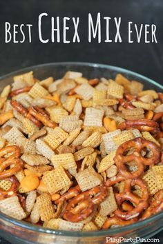 Best Chex Snack Mix Ever by playpartypin.com #ChexMix #snack
