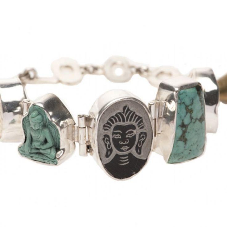 Lucky Buddha sieraden | Studio Art Styles | Armband | Lucky Buddha bracelet turquoise | handmade in Nepal