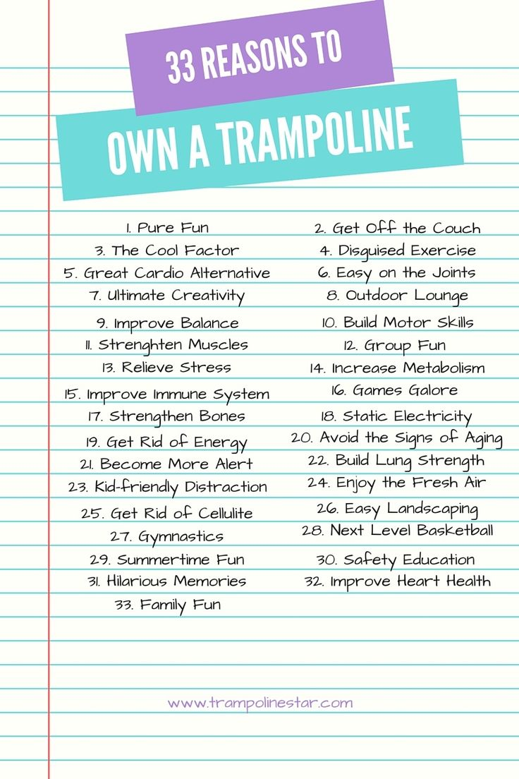 33 reasons to own a trampoline