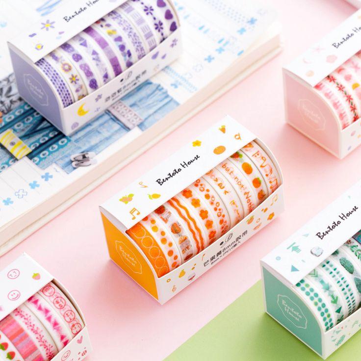 Colorful day washi tape 10pack washi tape set kawaii