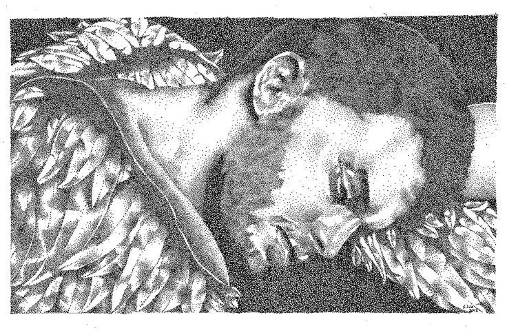 Angel - www.sereninspired.com - pointillism