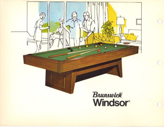A14 Brunswick Windsor Pool Table