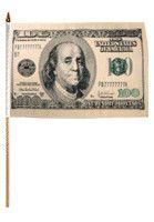 Hundred Dollars Traditional Flag and Flagpole Set