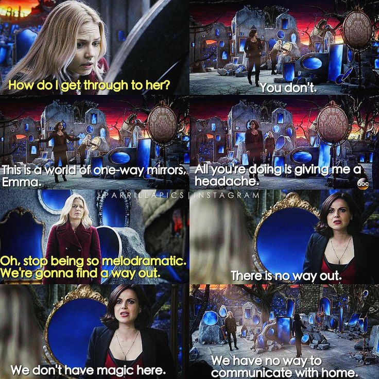 """There is no way out. We don't have magic here. We have no way yo communicate with home"" - Regina and Emma #OnceUponATime (by Lparrillapics)"