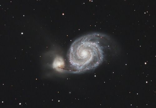 M51 Whirlpool Galaxy by Mike Glenny on Flickr.