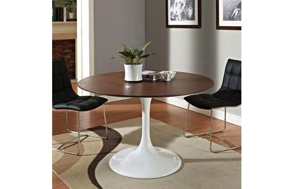 Knoll Replica Round Tulip Wood Table By Eero Saarinen This